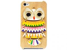 (7) Fancy - Iphone 4 Case, Iphone 4G Case, Iphone 4s Case, Wood Pattern Plastic Iphone 4 Case, Owl Iphone 4 Case on Luulla