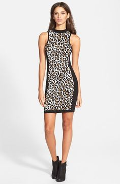 Leith+Leopard+Print+Body-Con+Dress+available+at+#Nordstrom