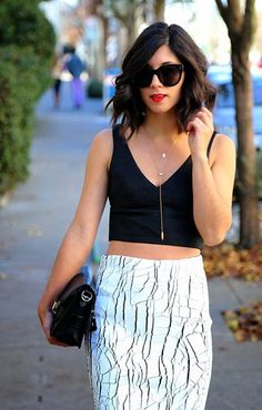 Street Style Spotlight: 30 Super Cool Chicks Who Prove That Crop Tops Look Awesome