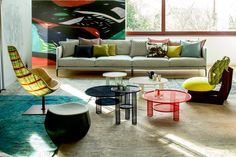 Gentry by Urqiola and Net Tables by Benjamin Hubert for Moroso