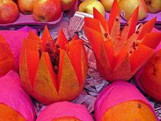 Papayas Mexican market