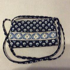 Vera Bradley Wallet Purse Cloth wallet purse with a long strap with lots of card slots Vera Bradley Bags