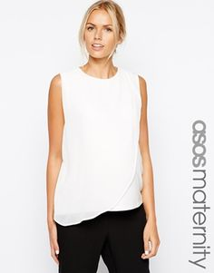 Enlarge ASOS Maternity Shell Top with Sheer Drape