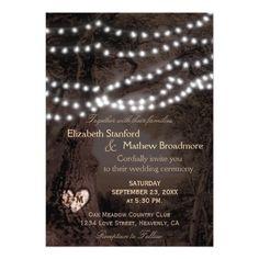 Wedding Invitation | Monogram String Lights Monogram Wedding Invitations, Wedding Invitation Design, Fairy Lights Wedding, Tree Wedding, String Lights, Monogram, Wedding Invitation, Twinkle Lights, Wedding Invitation Templates