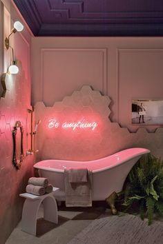 Home Decor Ideas Interior Design .Home Decor Ideas Interior Design Bühnen Design, House Design, Cafe Design, Aesthetic Room Decor, Pink Aesthetic, Bathroom Interior, Bathroom Inspo, Paris Bathroom, Rental Bathroom