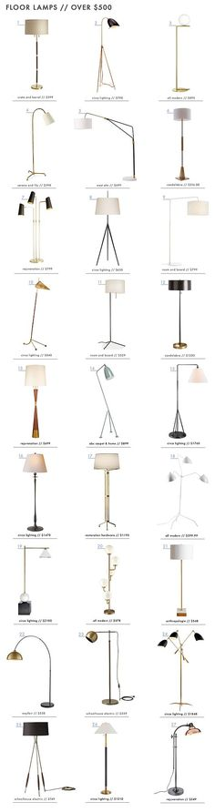 How to Light Your Space with 90 of our Favorite Floor Lamps | Emily Henderson | Bloglovin'