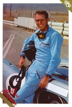 Steve McQueen Riverside Raceway with the Lola T-70 which he took to 157mph