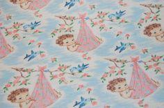 Vintage Retro Baby Bluebird Rose Nursery by sewuniquegirly on Etsy