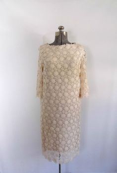 Vintage 1960s Cotton Lace Dress/Antique by rileybella123 on Etsy, $175.00