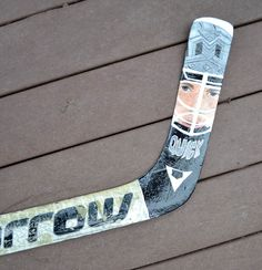 Portrait of Jonathan Quick Hand Painted on a full size goalie stick Los Angeles Kings by 21CannonSalute, $200.00