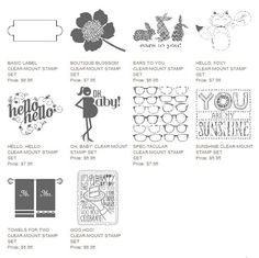 10 Never-Before-Seen Single Stamp Images!!! Available through March 31st only. www.alystamps.com