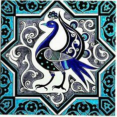 Art Deco Tiles, Tile Art, Turkish Tiles, Turkish Art, Persian Pattern, Islamic Patterns, Iranian Art, Art Corner, Tropical Art