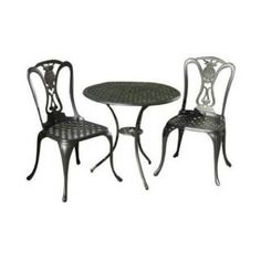 Check out the Alfresco Home 55-8615-GK Retiro 3 Pieces Bistro Set in Glossy Black priced at $399.00 at Homeclick.com.