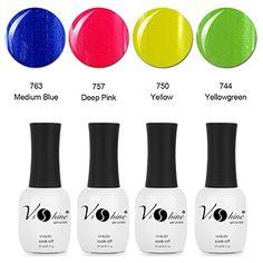 Vishine 4Pcs/Lot 16 mL Gel Nail Polish Soak Off UV Gel Solid Colors Series S175 *** Check out this great product.