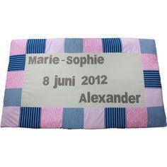 Tweeling boxkleed geboortekaartje Marie-Sophie & Alexander