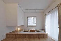 little tatami mats space Living Room Nook, Living Room Decor, Dining Room, Modern Japanese Interior, Tatami Room, Japan Interior, Japanese House, House Layouts, Interior Design Living Room