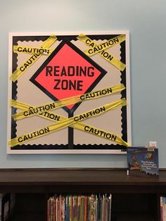 "2017 Summer Reading Program - Build a Better World - ""Reading Zone"" library bulletin board Reading Boards, Reading Bulletin Boards, Classroom Bulletin Boards, Classroom Themes, Preschool Bulletin, Construction Bulletin Boards, Construction Theme Classroom, Christmas Bulletin Boards, Library Book Displays"