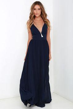 Depths of My Love Navy Blue Maxi Dress at Lulus.com!