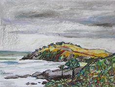 Modern Art Original Art Landscape Art Original  by InekedeVries