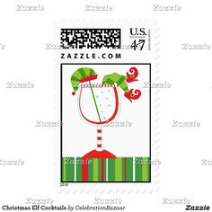 Christmas Elf Cocktails Postage