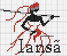 Iansã Cross Stitch, Paella, Character, Macrame, Easy Cross Stitch, Cross Stitch Flowers, Cross Stitch Designs, Cross Stitch Embroidery, African