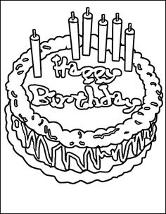 Special Happy Birthday Cake With Candles Coloring Pages For Kids Printable Birthdays