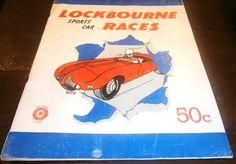 Lockbourne Sports Car Races 1954 AFB Ohio by heritagegeneralstore #Racing #vintage #memorabilia