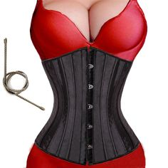 24 spiral steel boned Corsets And Bustiers Waist trainer corset Underbust Black steampunk corset plus Size lace up Sexy Lingerie