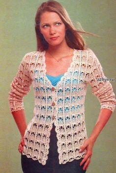 Fabulous Crochet a Little Black Crochet Dress Ideas. Georgeous Crochet a Little Black Crochet Dress Ideas. Crochet Bolero Pattern, Gilet Crochet, Crochet Coat, Crochet Shirt, Crochet Jacket, Freeform Crochet, Crochet Clothes, Crochet Patterns, Crochet Sweaters