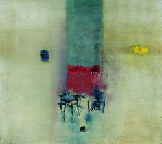Vasudeo S. Gaitonde (1924-2001), Painting No. 6, 1962. Oil on canvas. 101.3cm H x 113.8 cm W. (Tata Institute of Fundamental Research, Mumbai) (Image © Solomon R. Guggenheim Foundation, New York) (Photograph by Anil Rane)