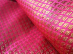Brocade Fabric sold by the yard - ornos model, art silk fabric, silk fabric from India, the wedding fabric