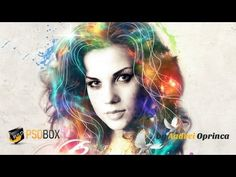 Make a cool colorful portrait effect in Photoshop using nebula stock images and adjustment layers