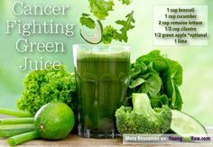 Cancer fighting green juice