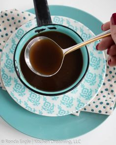 Classic Beef Au Jus Gravy is perfect for a French Dip sandwich or to accompany roasted meat like Prime Rib of Beef. It can also be thickened to make beef gravy. In this recipe, we are using ingredients that are gluten-free. #Beef Au Jus Recipe Prime Rib #Beef Au Jus Recipe French Dip Sandwiches #Kitchen Dreaming