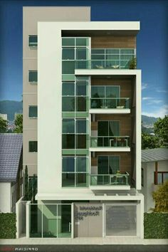 Apartment Exterior Design Townhouse Beautiful Ideas For 2019 – apartment Architecture Building Design, Home Building Design, Building Exterior, Modern Architecture House, Facade Design, Modern Buildings, Exterior Design, Exterior Stairs, Stucco Exterior