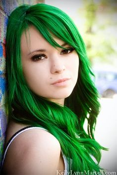 I don't think I could do an all over green  but this color is super beautiful
