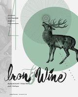 Iron And Wine Poster - The Paramount, Seattle - Chelsea Conboy