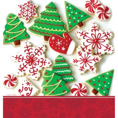 Holiday Treats 54 x 102 Inch Border Print Plastic Tablecover/Case of 12