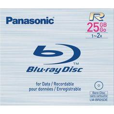 Panasonic LM-BR25DE 25 GB 2x Write-Once BD-R Blu-ray Disc by Panasonic. $3.00. PANASONIC 25GB DUAL LAYER WRITE-ONCE BLU-RAY DISC. Save 100% Off!