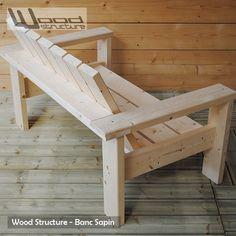 Banc de jardin en sapin du nord fabriqué en France par Wood Structure Shop - Spécialiste en aménagements extérieurs et rampe skate, pour particulier et collectivité