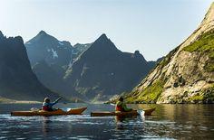 Kayaking Reinefjord #lofoten #norway #kayaking }:-