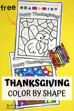 Help your kids get excited about the holiday with this free Thanksgiving Color By Shapes activity. Just print-and-go for terrific holiday fun! #thanksgivingfun #thanksgivingactivity #thanksgivingforkids Thanksgiving Activities For Kindergarten, Free Thanksgiving Printables, Activities For Adults, Printable Activities For Kids, Color Activities, Holiday Activities, In Kindergarten, Preschool Activities, Free Printables