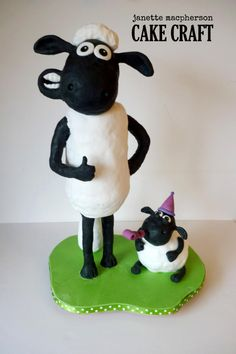 3D Shaun the Sheep - Cake by Janette MacPherson Cake Craft