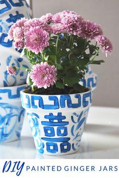Creative Crafts, Diy Crafts, Design Crafts, Homemade Closet, Painted Vases, Dollar Store Crafts, Ginger Jars, Terracotta Pots, Flower Pots