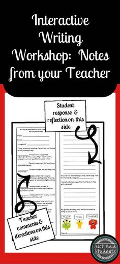 Make reviewing student drafts easier and writing workshop more efficient.  These Teacher Notes give you daily feedback and help you differentiate student tasks during writing workshop.