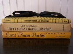 hostess gift idea-vintage entertaining books