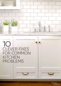 Instead of spending a lot of money for a repairman to come and fix these common kitchen problems, learn how to do it yourself! Save a ton of money and learn how to fix a clogged sink, a smelly dishwasher, a broken oven or a broken fridge.