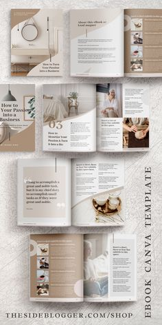 Do you need to create an eBook or info product for your audience or students? This eBook template ma Online Graphic Design, Graphisches Design, Graphic Design Inspiration, Print Design, Media Design, Funny Design, Cover Design, Book Design Templates, Blogger Templates