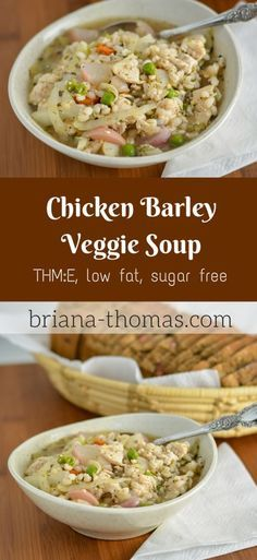 Chicken Barley Veggie Soup...THM:E, low fat, sugar free