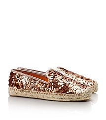 Tory burch espadrille gold for Summer